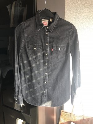 Levi's Jeanshemd, Black denim