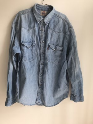 Levi's Jeansowa koszula błękitny-chabrowy