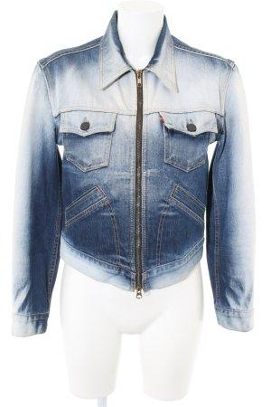Levi's Jeansjacke blau-weiß Farbverlauf Casual-Look