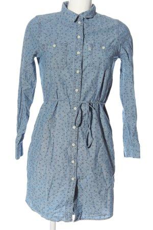 Levi's Robe en jean bleu-noir imprimé allover style décontracté