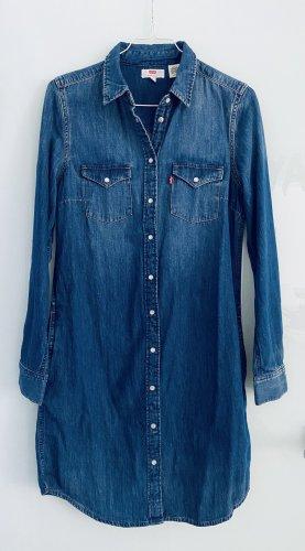 Levis Robe en jean bleu acier-bleu