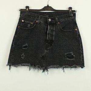 Levi's Gonna di jeans nero Cotone