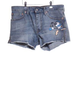 Levi's Jeansshorts blau Motivdruck Casual-Look