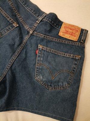Levi's Pantalón corto de talle alto azul-azul acero