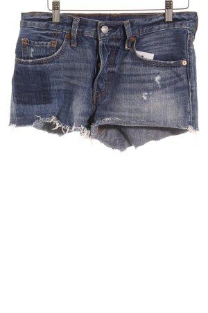 Levi's Pantaloncino di jeans blu applicazione del logo