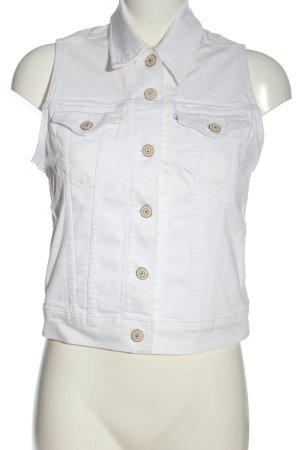 Levi's Gilet en jean blanc style décontracté