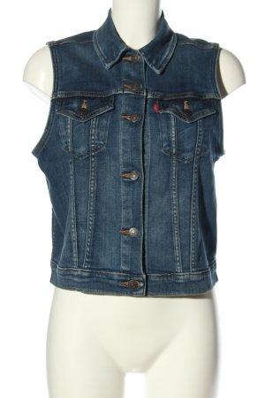 Levi's Jeansowa kamizelka niebieski W stylu casual
