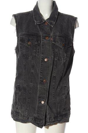 Levi's Gilet en jean gris clair style décontracté