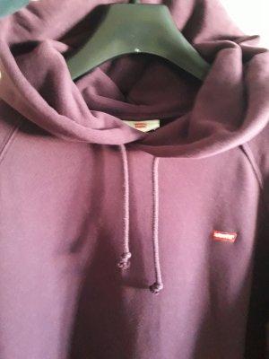 Levi's Pull à capuche brun pourpre coton