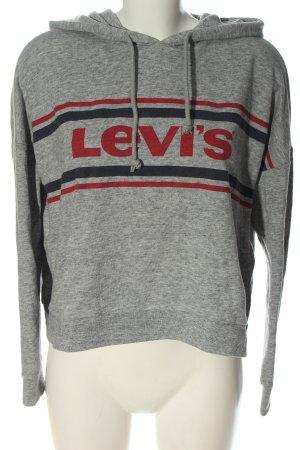 Levi's Sweat à capuche gris clair-rouge moucheté style décontracté