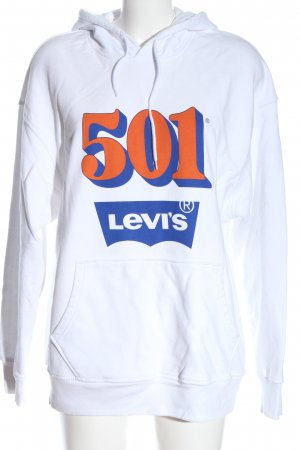 Levi's Kapuzensweatshirt weiß Schriftzug gedruckt Casual-Look