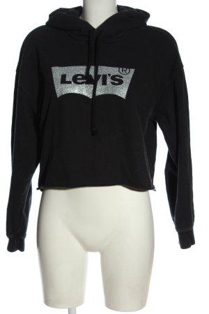 Levi's Kapuzensweatshirt schwarz Schriftzug gedruckt Casual-Look