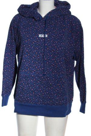 Levi's Sweat à capuche bleu-rose imprimé allover style décontracté