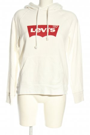 Levi's Hooded Sweatshirt white-red printed lettering casual look