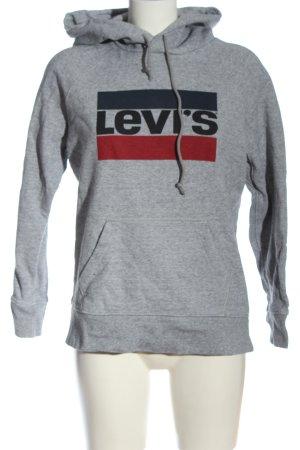 Levi's Kapuzensweatshirt hellgrau meliert Casual-Look