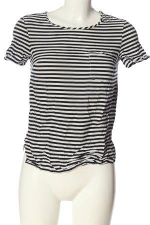 Levi's Kurzarm-Bluse weiß-schwarz Allover-Druck Casual-Look