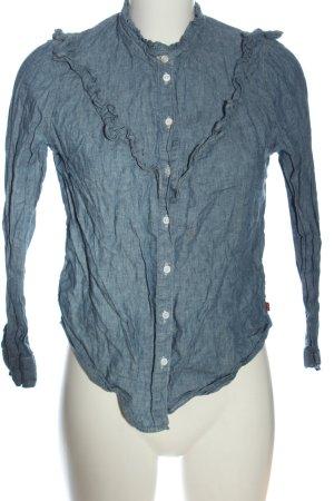 Levi's Langarm-Bluse blau Casual-Look