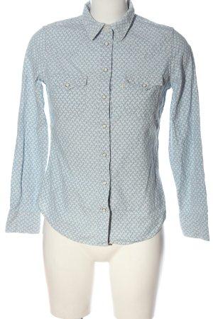 Levi's Koszula z długim rękawem biały-niebieski Na całej powierzchni