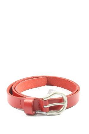 Levi's Skórzany pasek czerwony W stylu casual