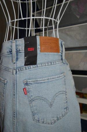 Levi's Jupe en jeans bleu pâle-bleu azur