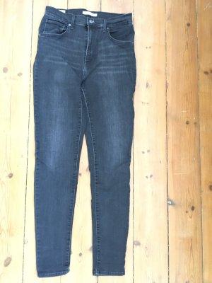 Levi's Skinny jeans donkergrijs