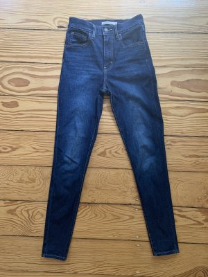 Levis Hoge taille jeans donkerblauw-blauw