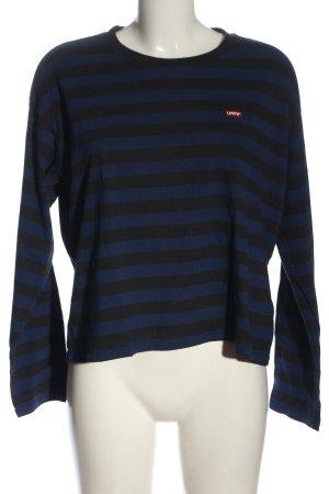 Levi's Camisa holgada azul-negro estampado a rayas look casual