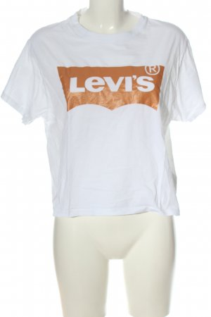 Levi's Print-Shirt weiß-hellorange Casual-Look