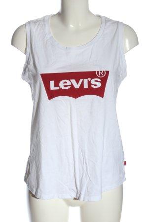 Levi's Camiseta estampada blanco letras impresas look casual