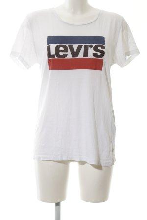Levi's Print-Shirt weiß Schriftzug gedruckt Casual-Look
