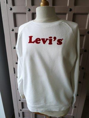 Levi's Pullover White Oversized Gr M