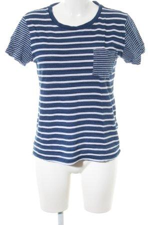 Levi's Ringelshirt blau-weiß Allover-Druck Casual-Look