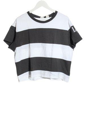 Levi's Ringelshirt weiß-schwarz Motivdruck Casual-Look