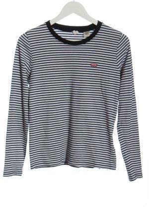 Levi's T-shirt rayé blanc-noir motif rayé style décontracté