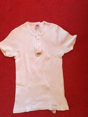Levi's Prążkowana koszulka biały Bawełna