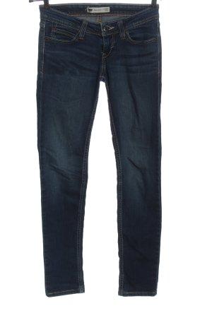 Levi's Jeans a sigaretta blu motivo a righe stile casual