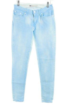 Levi's Röhrenjeans himmelblau-weiß Washed-Optik