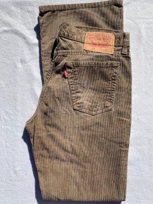 Levi's Spodnie sztruksowe brązowy