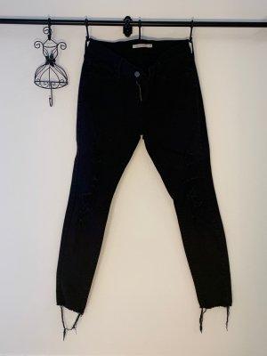 Levi's schwarze Jeans 710 super skinny