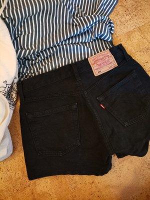 Levi's Pantalón corto de talle alto negro