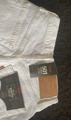 Levi's Pantalón corto de tela vaquera blanco