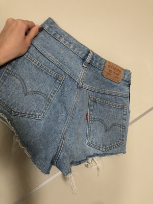 Levi's Pantalón corto de tela vaquera negro-azul celeste
