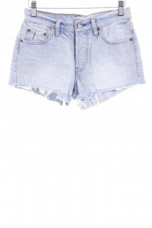 Levi's Shorts himmelblau Logo-Applikation aus Metall