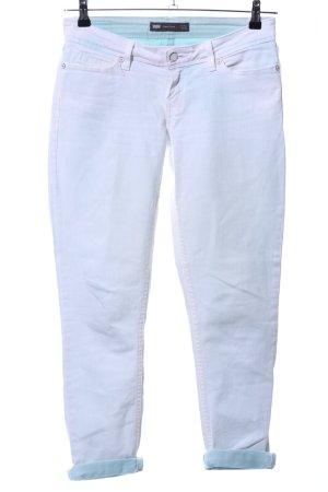 Levi's Skinny Jeans türkis-weiß Casual-Look