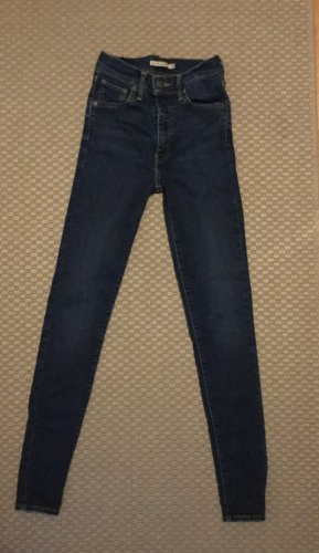 Levi's Hoge taille jeans blauw Lycra