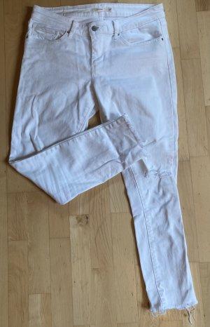 Levi's skinny Jeans ripped weiß