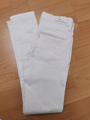 Levi's Skinny Jeans, weiß, Größe 25 /32