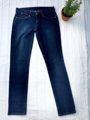 LEVI'S Slim Fit Jeans, Mid Waist, dunkelblau, 36