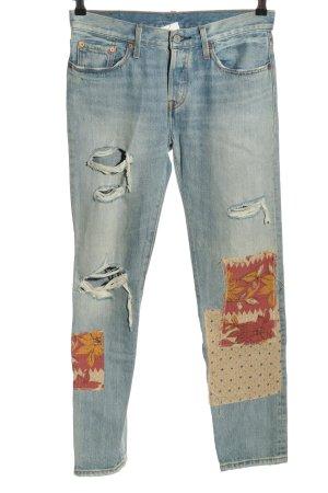 Levi's Slim Jeans blau-hellorange grafisches Muster Elegant