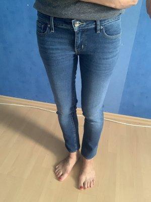 Levi's Slim Röhre Five Pocket Jeans Skinny fester Stoff